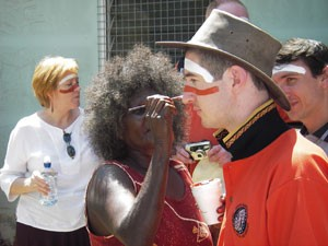 Community Justice personnel being prepared for an insight into yolngu culture.