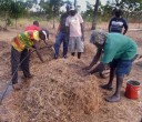 Yolngu entrepreneurs and workers making compost for their crops.