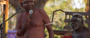Rev Dr Djiniyini Gondarra at the Yolŋu Nations Assembly