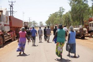 Yolngu leaders march through Maningrida