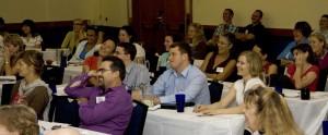 seminar group laughing