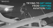 Sniffer walking on plane