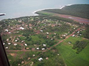 The Galiwin'ku township from the air